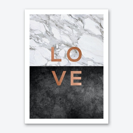 Love Copper Art Print