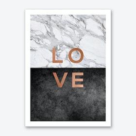 Love Copper Art Print