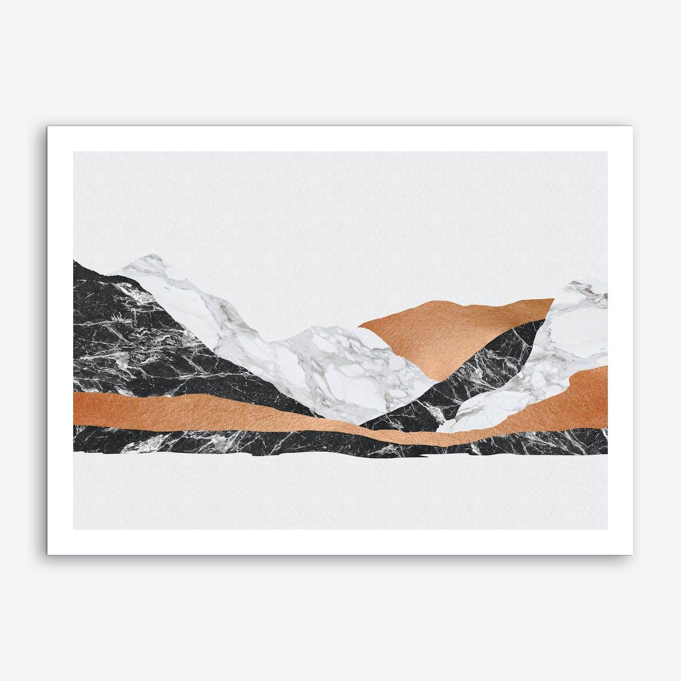 Marble Landscape I Art Print