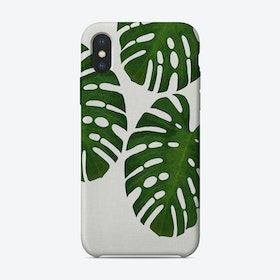 Monstera Leaf III iPhone Case