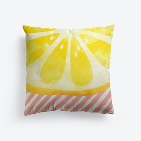 Lemon Abstract Cushion