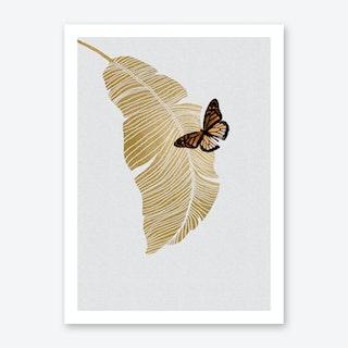 Butterfly & Palm Art Print