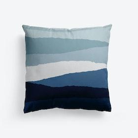 Blue Abstract Cushion