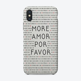 More Amor Black And White Phone Case