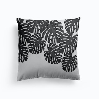 Monstera Leaf Black And White I Cushion