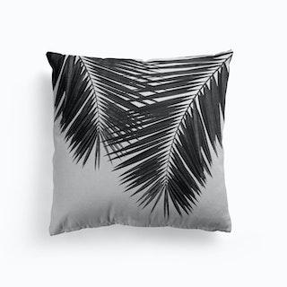 Palm Leaf Black And White Ii Cushion