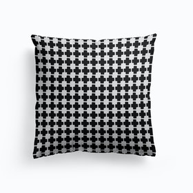 Black And White Abstract Iii Cushion