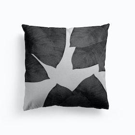 Banana Leaf Black And White Iii Cushion