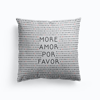 More Amor Black And White Cushion