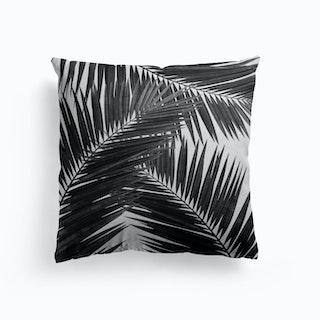 Palm Leaf Black And White Iii Cushion
