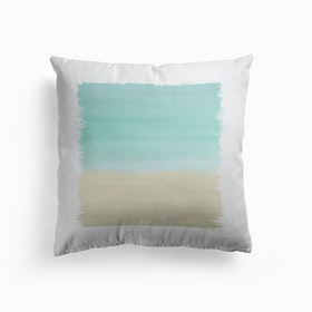 Turquoise Abstract Cushion