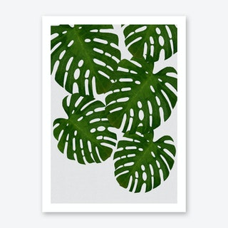 Monstera Leaf I Art Print