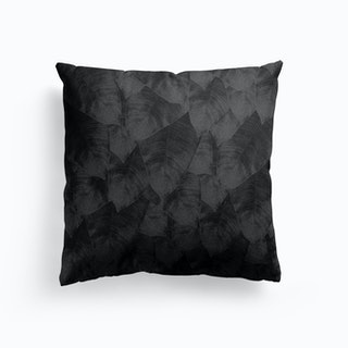 Banana Leaf Black And White Ii Cushion