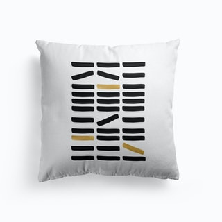 Black And Gold Abstract Cushion