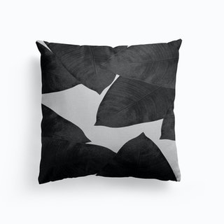 Banana Leaf Black And White I Cushion