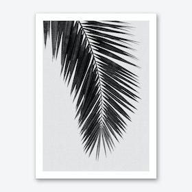 Palm Leaf Black & White I Art Print