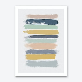 Pastel Stripes Art Print