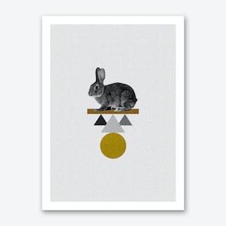 Tribal Rabbit Art Print