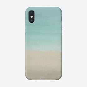 Turquoise Abstract iPhone Case