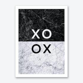 XO B&W Art Print
