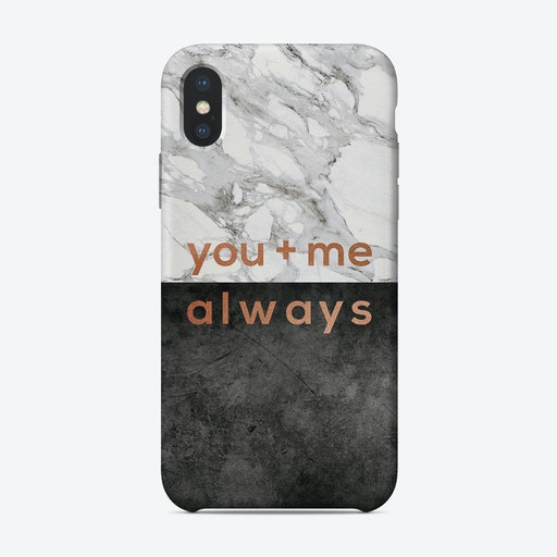 You & Me Always Copper iPhone Case