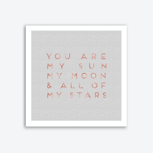 You Are My Sun Art Print