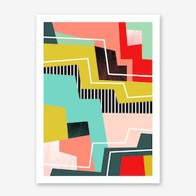 Colour Block I Art Print