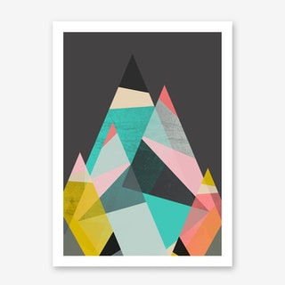 Geo Mountains Art Print
