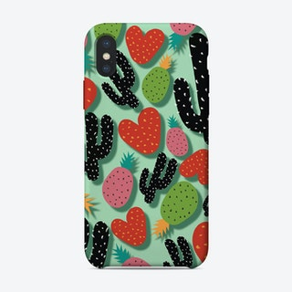 CACTUS LOVE AND PINEAPPLES iPhone Case