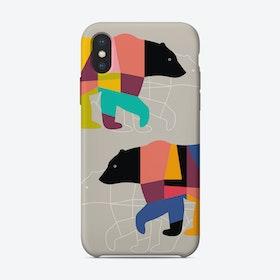 TWIN BEARS iPhone Case