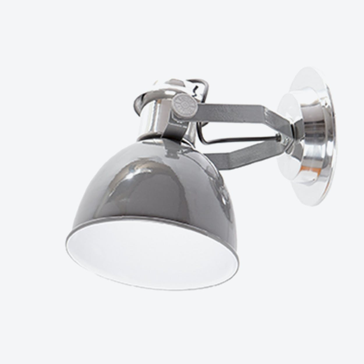 Wall Lamp New York Cylinder in Dark Grey