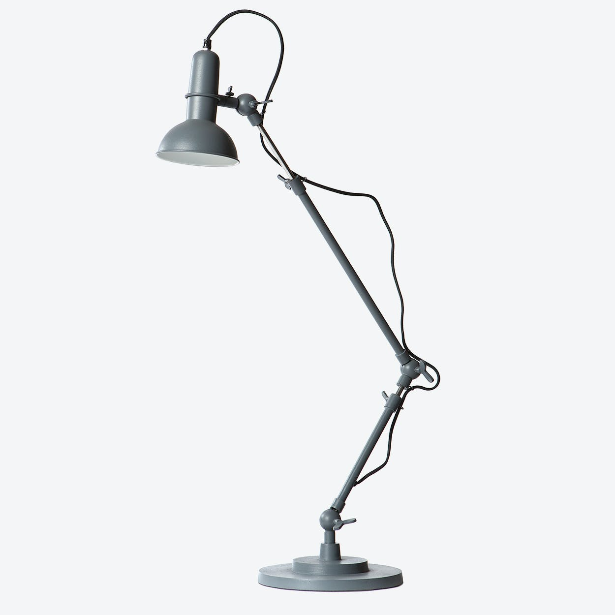 "Floor Lamp Two-Arm ""Indu in Sandpaper Grey"
