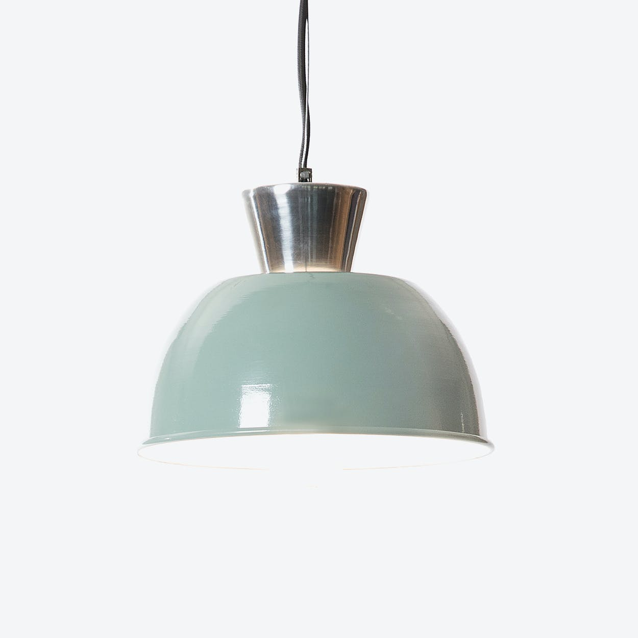 "Pendant Light ""Topper"" in Vintage Green"