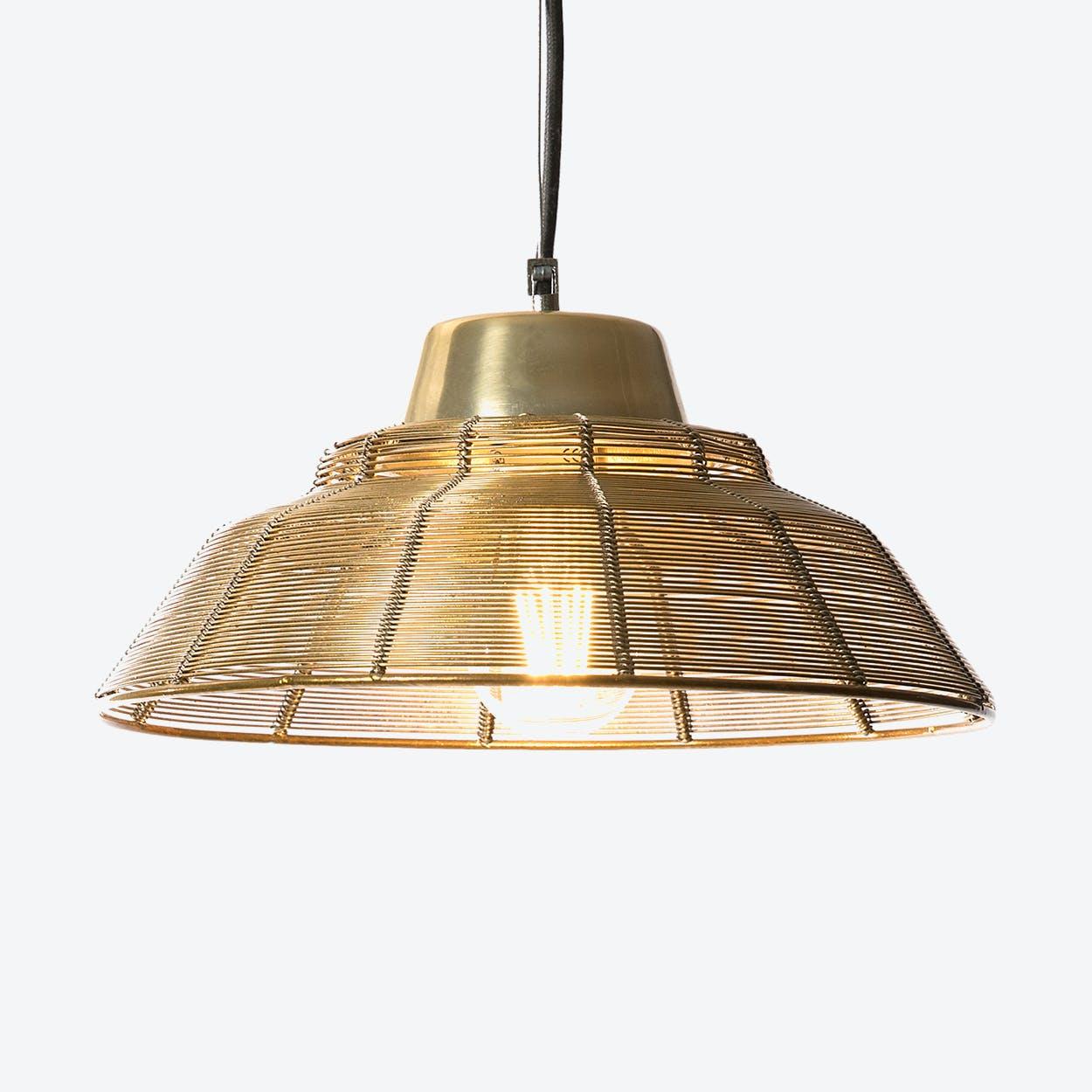 "Pendant Light ""Jali"" Brass"