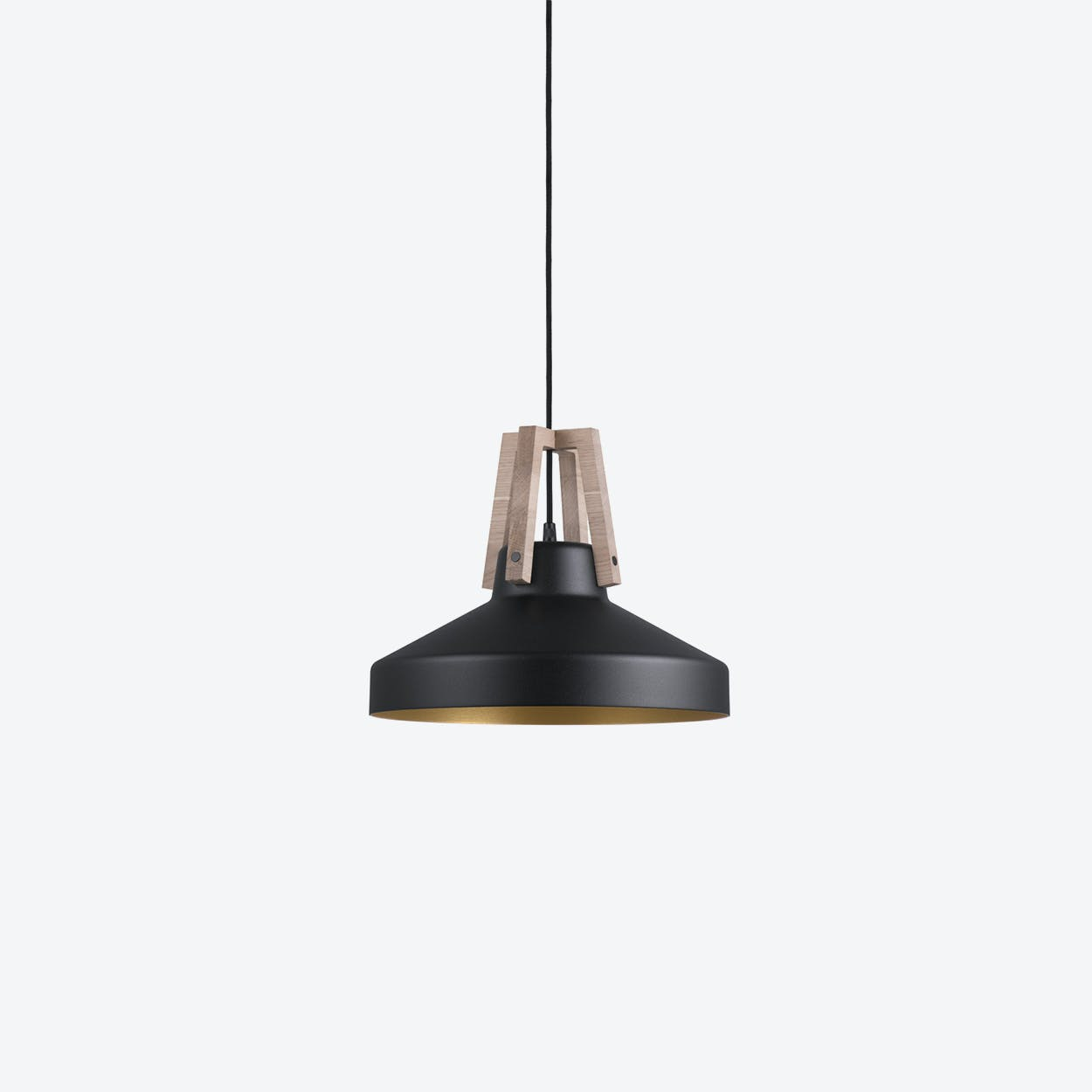 Work Pendant Lamp in Black/Gold