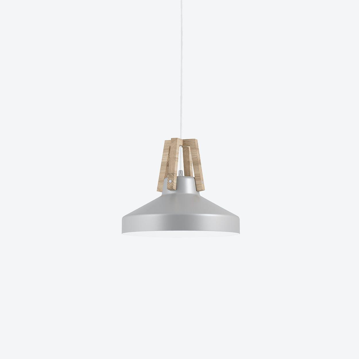 Work Pendant Lamp in Silver/White