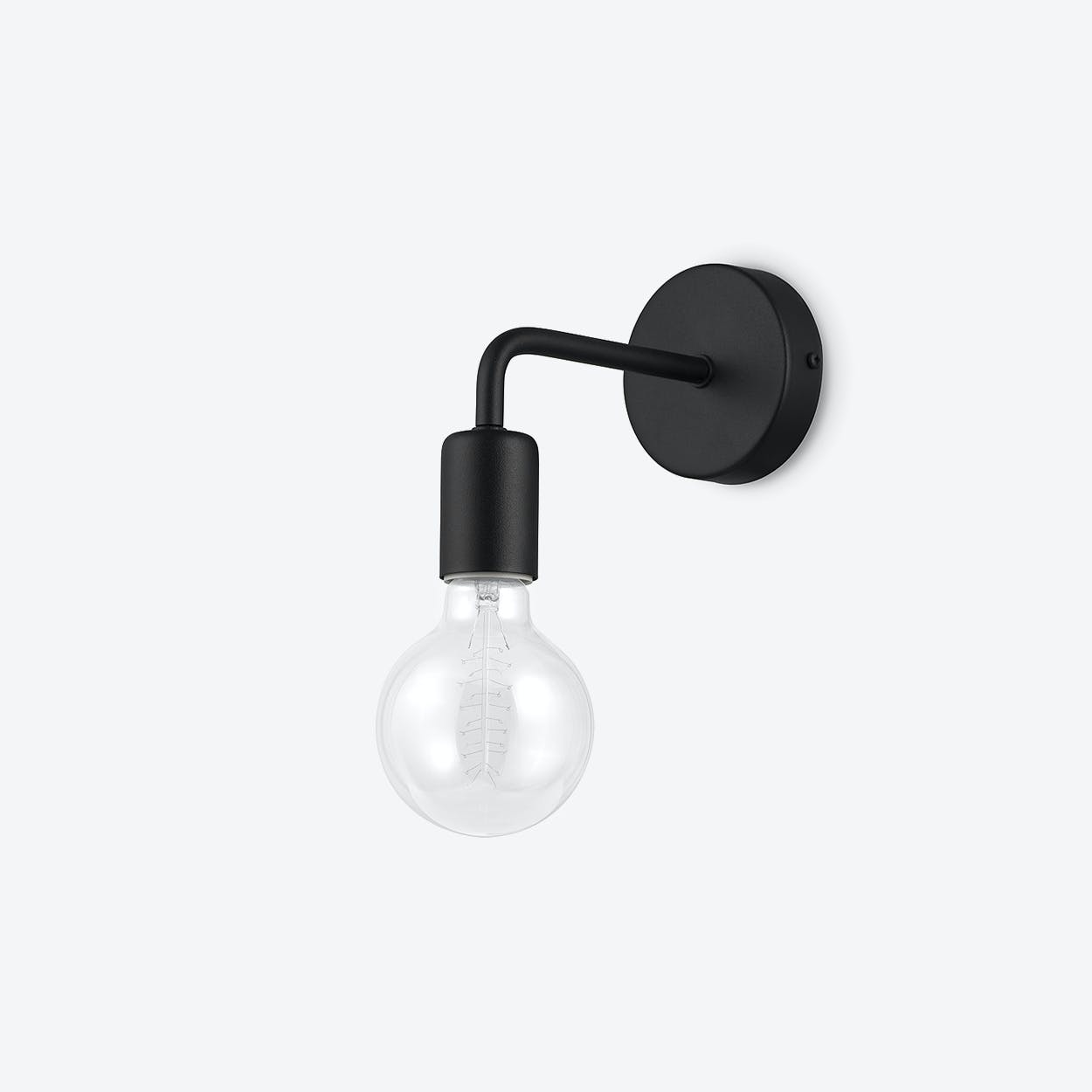 Pot Loft Wall Lamp in Black
