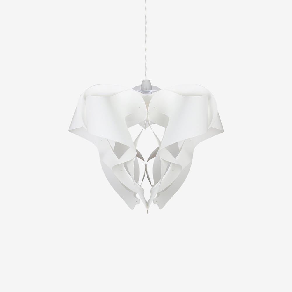 Volant Pendant Light Shade in Ivory (White Polypropylene)