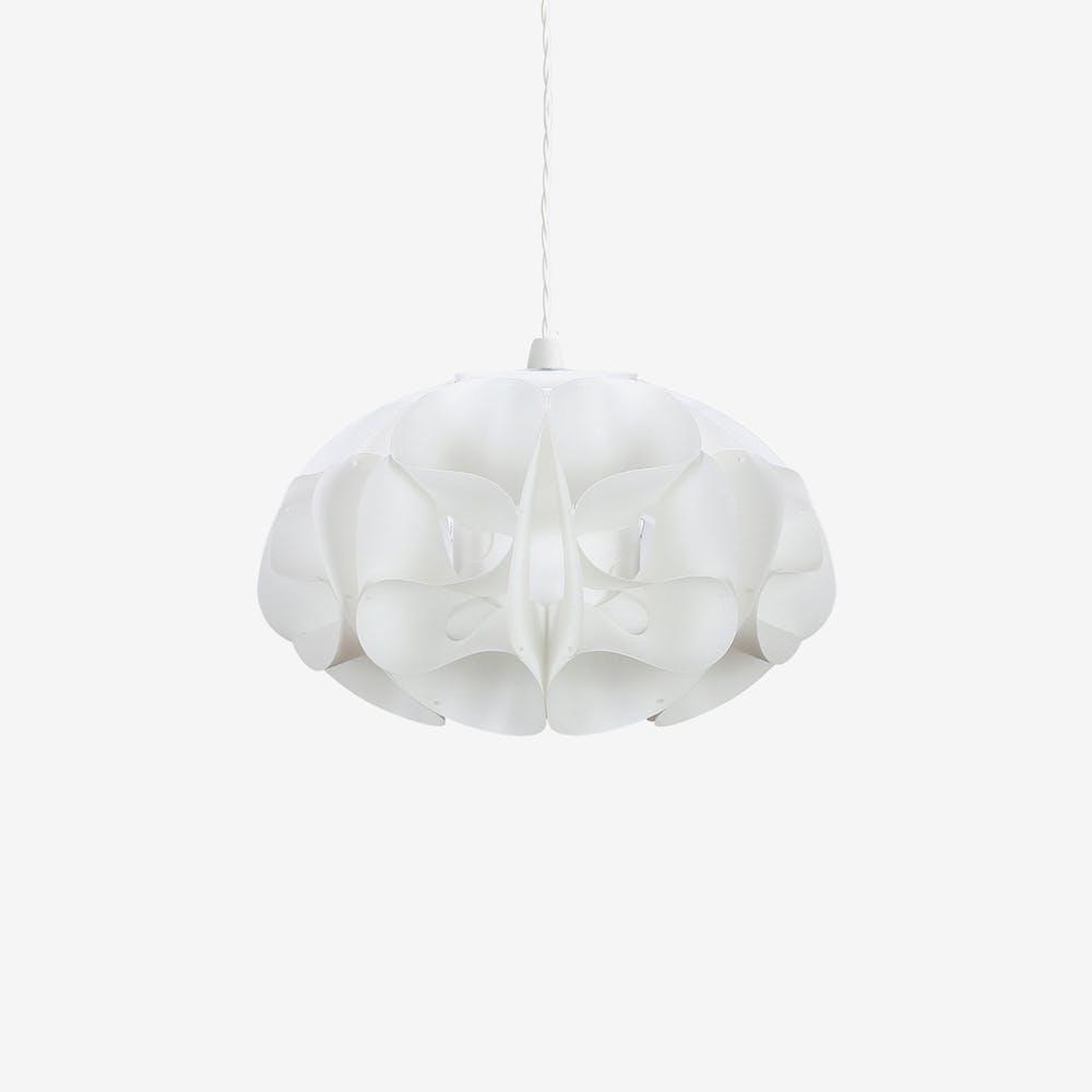 Papilion Pendant Light Shade in Ivory (White Polypropylene)