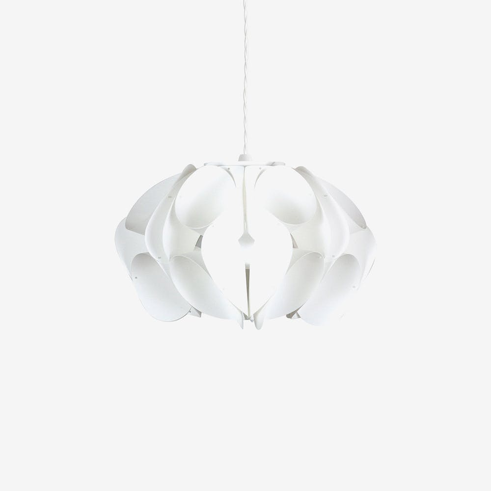 Orchid Pendant Light Shade in Ivory (White Polypropylene)