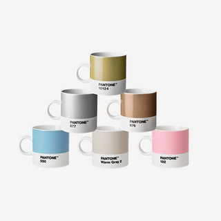 Porcelain Espresso Cups (Pastel and Metallic Tones)