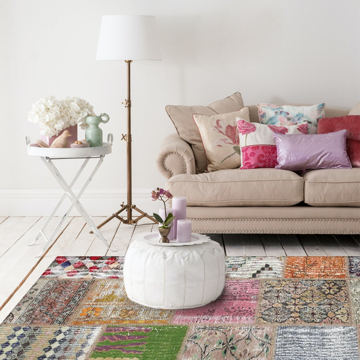 Patchwork Rug in Boho