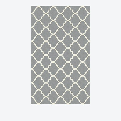 Moroccan Trellis Rug in Light Grey