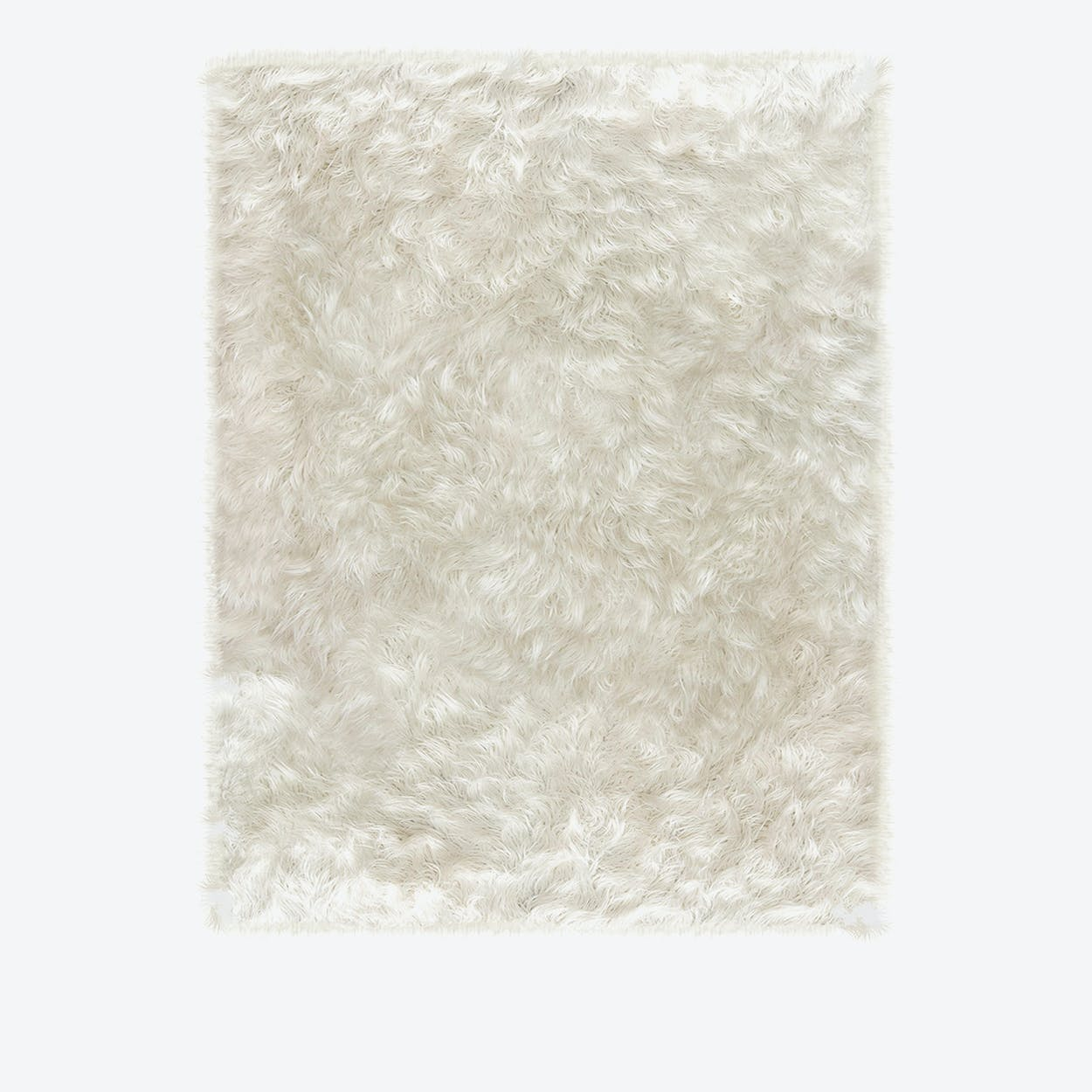Shag Rug in White