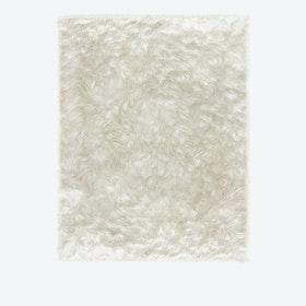 Shag Rug in White