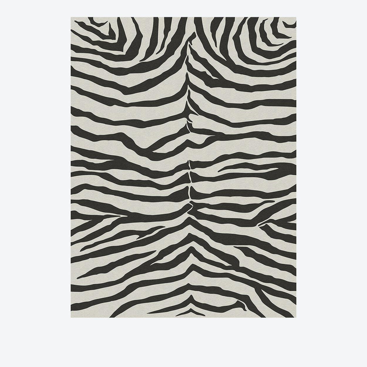 Zebra Rug in Safari Black