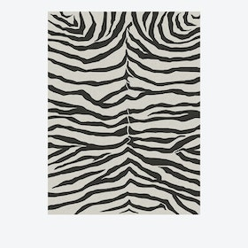 Zebra Rug in Safari Black