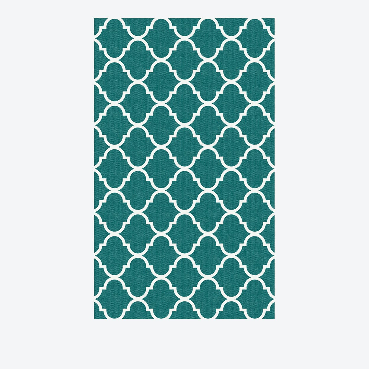 Moroccan Trellis Rug in Teal