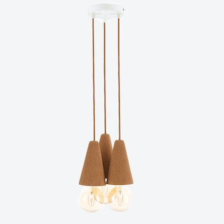 Sino Pendant Lamp #3 in Light Cork