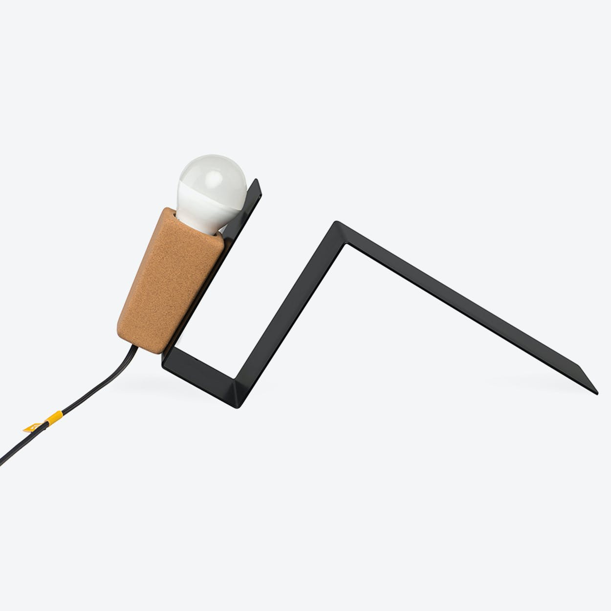 Glint Desk Lamp #1 in Black Base & Black Wire